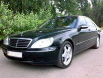 Mercedes S500L W220 (цвет черный) аренда с водителем