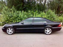 Mercedes S500L W220 (цвет черный) авто бизнес класса